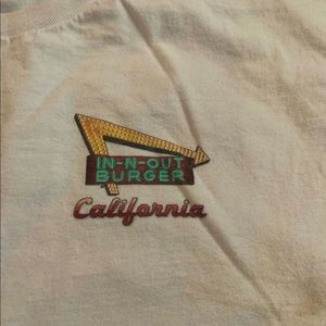 White In-N-Out Burger tee